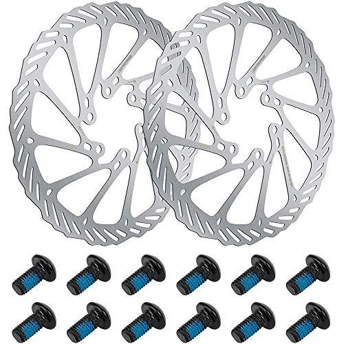 2 Piezas Disco de Bicicleta, 160mm Rotor de Freno, Rotor de