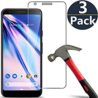 [3 Pack] Compatible with Google Pixel 3a XL Screen Protector,Caozenb [Bubble Free] [Easy Installation][HD-Clear][Anti-Scratch] Tempered Glass Screen Protector Film for Google Pixel 3a XL