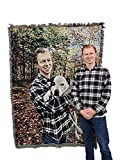 picture of pur - Personalized Photo --Custom Blanket Throw Woven from Cotton - Made in The USA (72x54)