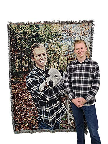 Personalized Photo - Customizable Picture - Blanket Throw Woven from...