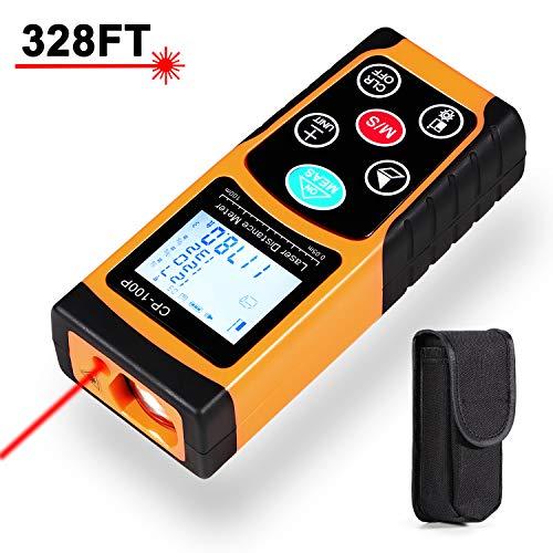 Laserafstandsmeter met geïntegreerde digitale waterpas van 100 m, comfortabel en nauwkeurig lcd-display voor afstandmeting, meetbereik 0,05~100 m/±1,5 mm.