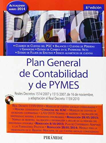 Plan General De Contabilidad Y De PYMES - 8ª Edición (+ CD-ROM) (Economía Y Empresa)