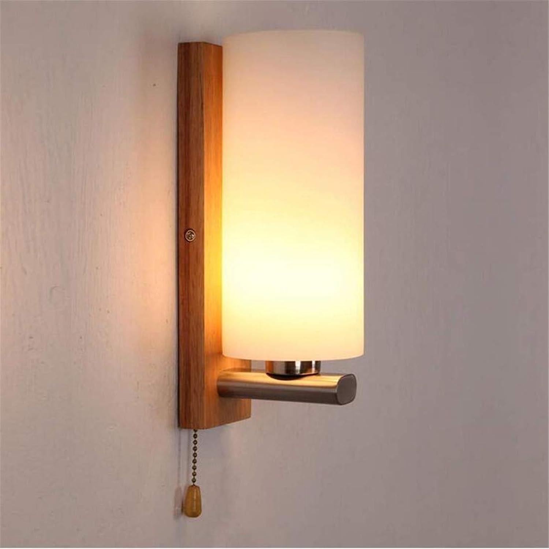 Led Lights Edison Lights Moderne Massivholz Mit Schalter Glas Lampenabdeckung Wandleuchte Led