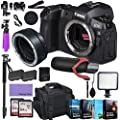 Canon EOS R Mirrorless Digital Camera (Body Only) and Mount Adapter EF-EOS R kit Bundled with Deluxe Accessories Like Pro Microphone, High Speed Flash, 4-Pack Photo Editing Software and More… from Canon