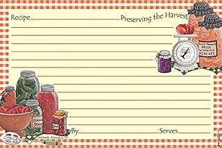 Recipe Cards Index Cards with Lines - Multicolor - Original Artwork (4x6, Mason Jars)