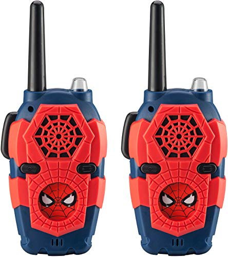 Product Image of the Spiderman FRS Walkie Talkies for Kids with Lights and Sounds Kid Friendly Easy...