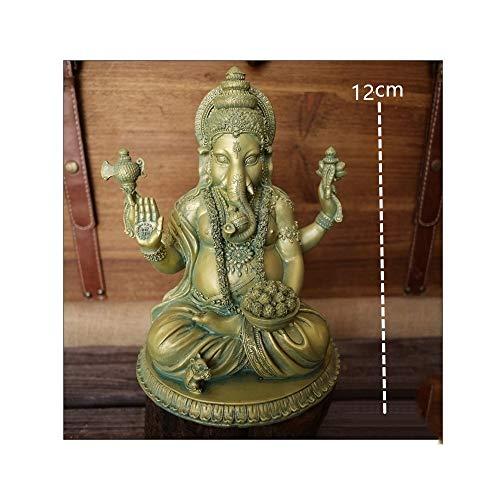 AJLNSL Estatua De Cabeza De Elefante Indiopequeña Estatuas