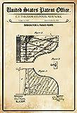 Schatzmix United States Patent Office – Diseño para Piano Forte – Diseño para un Piano – Steinway – 1880 – Diseño No 9431 – Cartel de Chapa