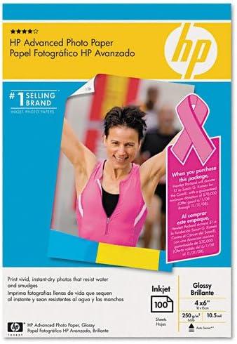 HP : Glossy Advanced Borderless Photo Paper 4 p Genuine Free Shipping x 100 1 year warranty Sheets 6