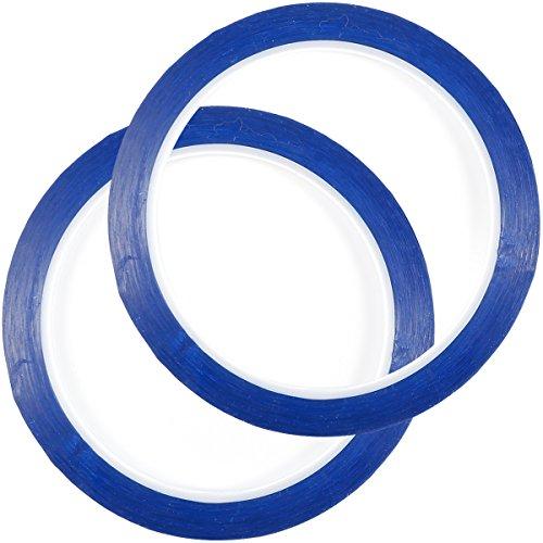 Anladia 3 mm x 100 m Blau Linienband Markierungsband Klebeband Whiteboard Raster Band Selbstklebendes Tape Artist Tape