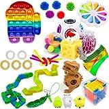Useqeddjs Fidget Toys Sensorial Set Pack Juguetes para aliviar el estrés Autismo Alivio de la ansiedad Stress Pop Bubble Fidget Toys para niños