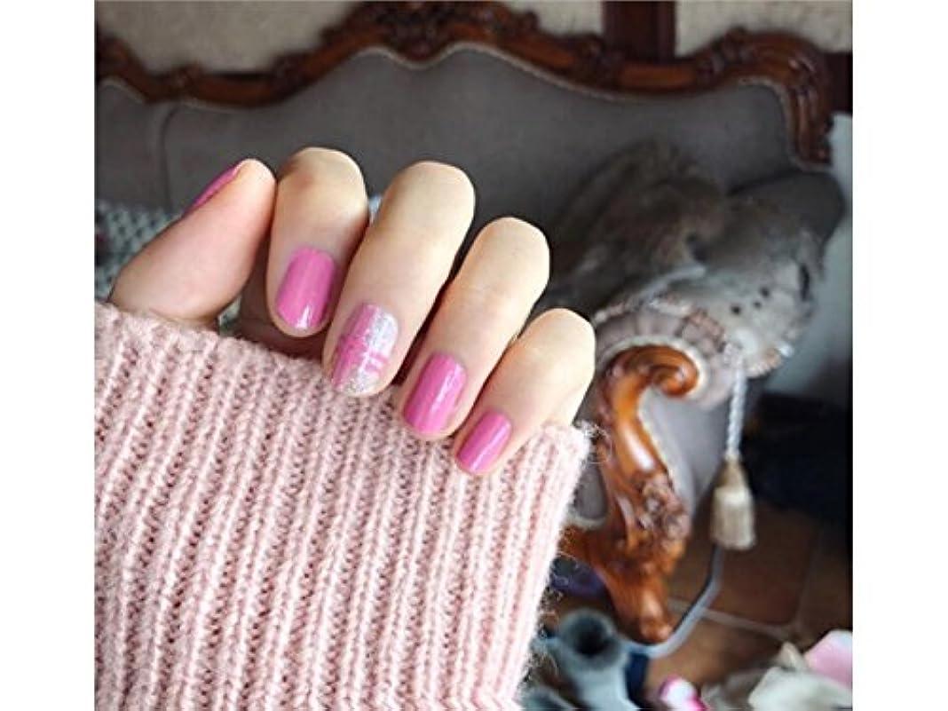無法者ウォーターフロントエコーOsize ファッションウォーターマーク美しい先端ネイルアートネイルステッカーネイルデカールカービングネイルステッカー(ピンク)
