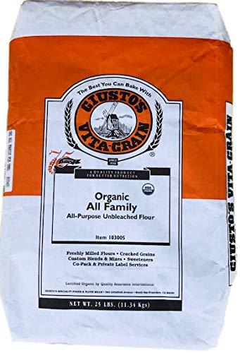 Giusto's Organic All-Purpose All-Family Flour, 25 lb.