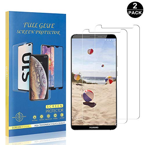 Bear Village® Verre Trempé pour Huawei Mate 10 Pro, sans Bulles Protection en Verre Trempé Écran pour Huawei Mate 10 Pro, Ultra Résistant, 99% Transparent, 2 Pièces