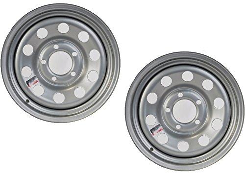 2-Pack Trailer Rim Wheel 15X5 J 5-4.5 Silver Modular 1870 Lb. 3.19 Center Bore