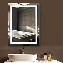 Specchio Con Led Incorporato.Amazon It Specchio Bagno Led