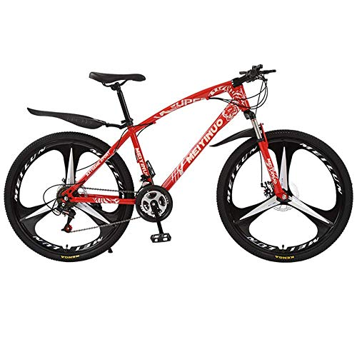 Bike Bicicleta Bicicleta Ciclismo al aire libre Fitness Bicicleta de montaña portátil para adultos, Bicicleta de montaña para adolescentes de adultos Hombres y mujeres, Cuadro de acero de alto carbon