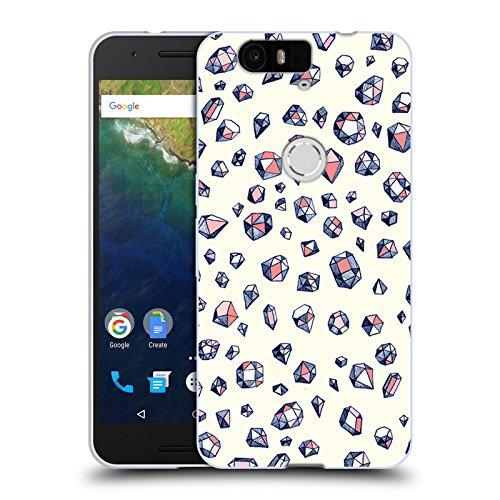 Head Case Designs Licenciado Oficialmente Micklyn Le Feuvre Cristales de Marina y Coral Patrones Carcasa de Gel de Silicona Compatible con Huawei Nexus 6P