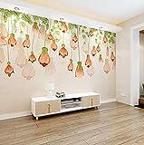 Fototapete Wandbild Vliestapete Handgemalte Betriebsblumen-Wand-einfache moderne schöne Wohnzimmer-Schlafzimmer-Laternen-Blumen-Wand 3d tapete