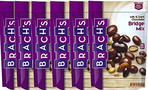 NEW Brach's Milk & Dark Chocolate Bridge Mix, 11oz Bag (6)