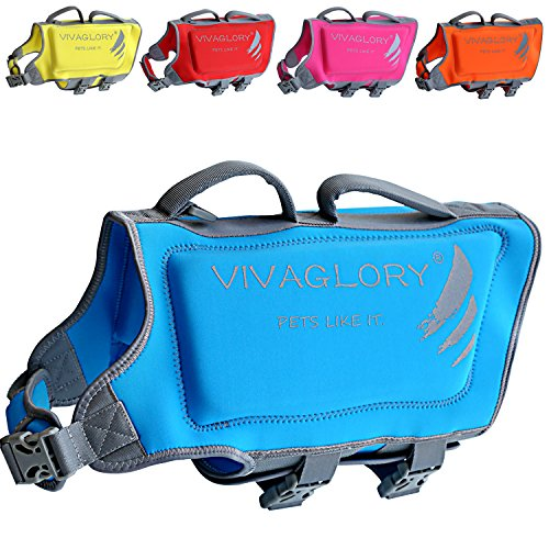Vivaglory Dog Life Vests for Swimming, Skin-Friendly...