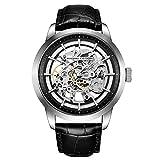 BERSIGAR Orologio da Uomo Automatico Con Meccanismo Di Scheletro trasparente-orologio da polso da uomo impermeabile che