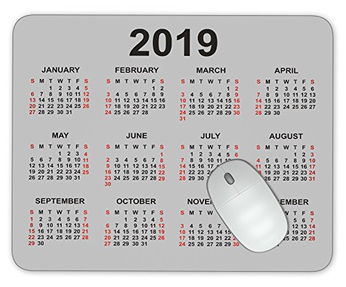 ABin 2019 Calendar Mouse pad Gaming Mouse pad Mousepad Nonslip Rubber Backing