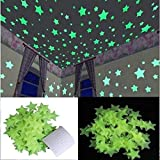 Satya Vipal Plastic Luminous Fluorescent Glowing Night Sky Wall Sticker Radium Glow Stars