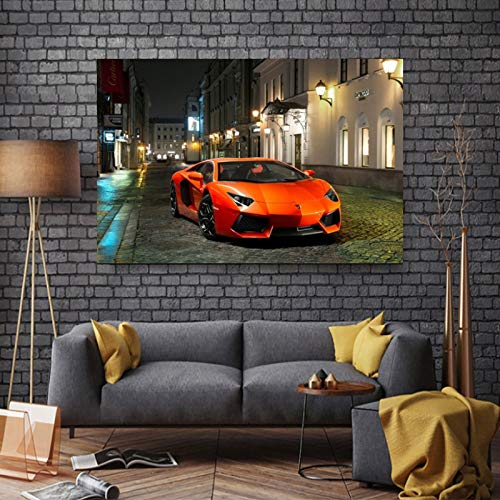 Canvas art print poster wall decoration painting famous car living room home decoration frameless painting 50X70cm