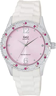 Q&Q For Women Pink Dial Rubber Band Watch - Q833J312Y, Analog Display