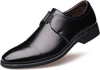 Chaussure en Cuir Habillé de Costume d'affaire Commercial Poointue Souple Homme Chaussure de Ville a Enfiler de Travail Ba...