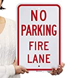 SmartSign No Parking - Fire Lane Sign | 12 x 18 Inches Engineer Grade Reflective ACM, Laminated for Protection, Rust-Free