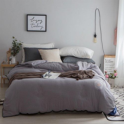 MMM Protégez-vous à l'aide d'un couvre-lit en coton lavé. ( Couleur : Gris , taille : 200*230cm )