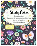 moses. Flowers & Friends Sticky Notes Libro, 400 notas adhesivas impresas de colores para el buen humor en el escritorio o de viaje, en un práctico libro