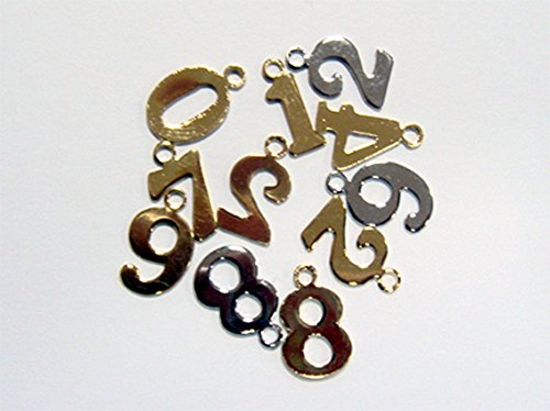 数字チャームSサイズ(ナンバーチャーム) (数字 4, シルバー)