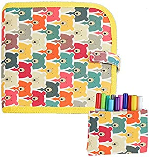 Matoseast Children's Portable Drawing Book Blackboard Picture Book, Repeatable Wipe Without Marking Watercolor Chalk Drawi...