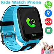 Kids Smart Watches Phone, SZBXD GPS Tracker Touch Screen Flashlight SOS Camera Clock Voice Chat Smartwatch - Boys Girls Christmas Birthday Gift
