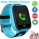 SZBXD Kids Smart Watch, LBS\/GPS Tracker SOS Camera Voice Chat Touch Screen Games Alarm Clock Flashlight Phone Watch for 3-12 Year Old Boys Girls Great Birthday Gift-Blue