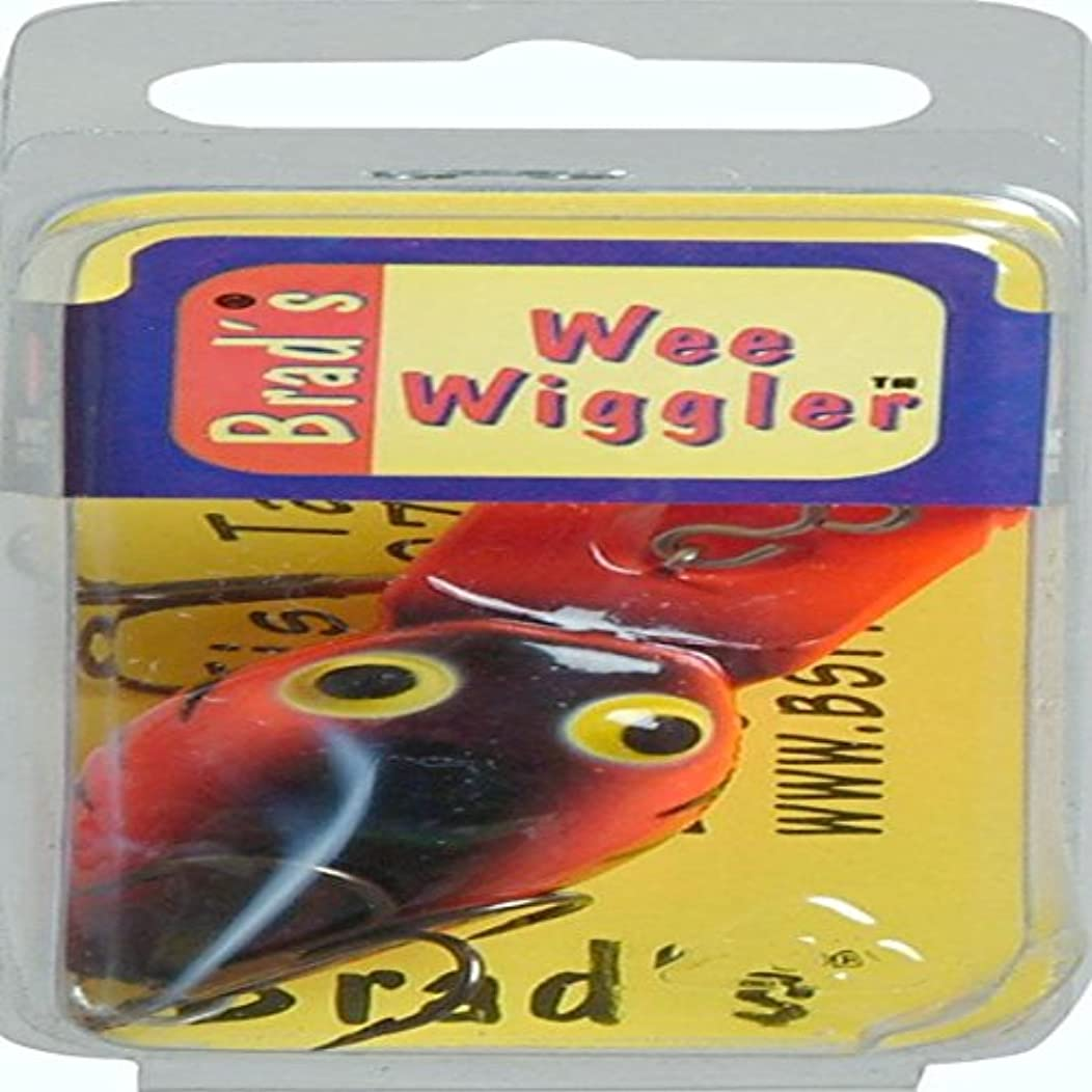 Brad's Killer Fishing Gear Wee Wiggler Red and Black Fishing Lure