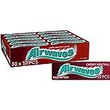 Wrigley's Airwaves Chicles de Cereza Mentol, 30 Paquetes de 10 Chicles