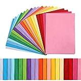 Kesote 100 Feuilles Papier de Soie Coloré - 20 Couleurs, 35 x 50cm pour Loisirs Créatifs et Décoration DIY Papier d'emballage Cadeau Fête Mariage