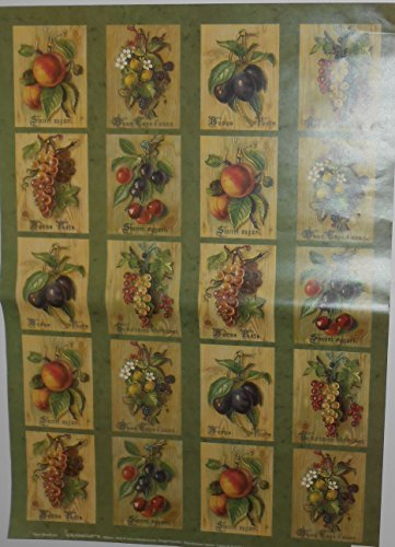 Carta per DECOUPAGE Frutta 2 Fogli cm 50 x70