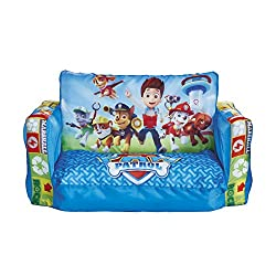 Two in one sofa and lounger - Paw Patrol kids' seating flips out to reveal a cosy lounger, ideal for naps Machine washable, removable cover for easy cleaning Blow up chair inflates in minutes and deflates for compact storage Ideal kids' seating at ho...