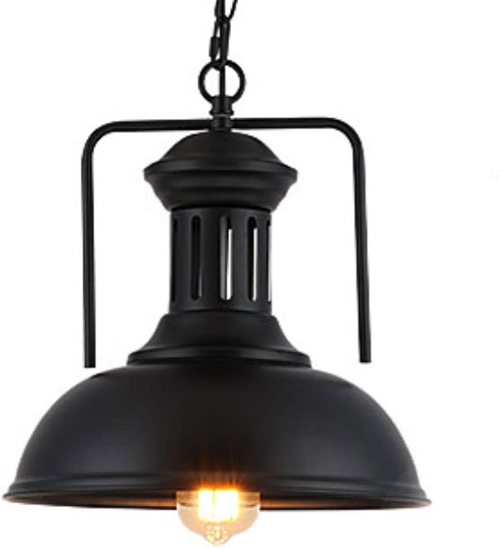 Lustre Vintage Industriel Rétro Lustre En Métal Lumière Plafonnier pour Chambre Loft Cuisine Salon Noir E27 (taille   33cm)