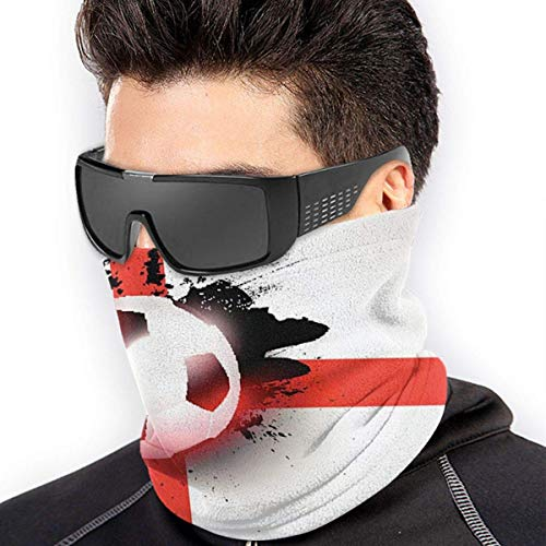 ShiHaiYunBai Halstuch/Kopftuch Neck Gaiter Warmer Windproof Mask Dust - Free UV Face Mask - Football England Flag