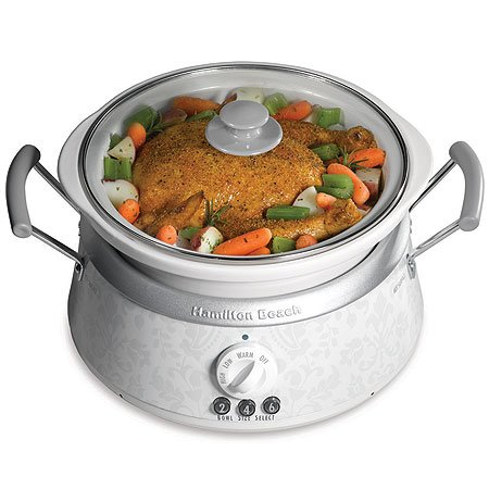 Hamilton Beach 33134 3-in-1 Slow Cooker with 2-, 4-, and 6-Quart Crocks