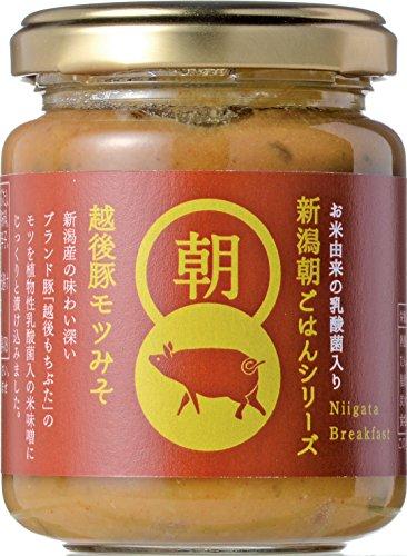 乳酸菌入り新潟朝ごはんシリーズ 越後豚モツみそ 140g瓶詰×2本