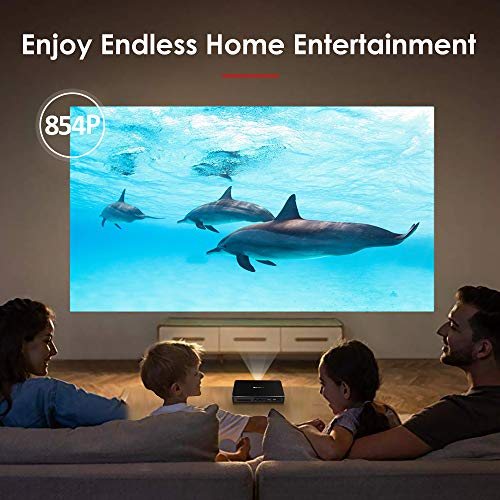 Mini Projector WOWOTO 200 ANSI Lumen Android 6.0 Support Full HD 1080P Smart Wi-Fi Projector 4200mAh Battery 150
