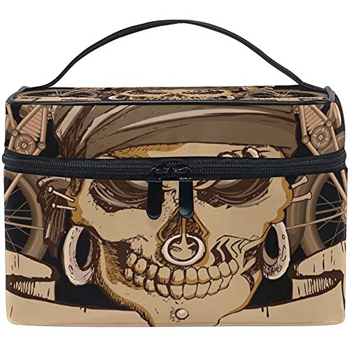 Bolsa de Maquillaje Cráneo GH_ost Bicicleta Bolsas de cosméticos de Viaje Organizador Funda de Tren Artículos de tocador Bolsa de Maquillaje