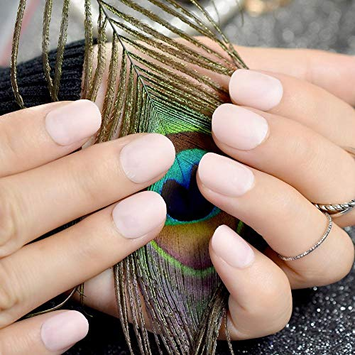 CLOAAE Natural Pink Round Matte Small False Nails For Women Fashion Acrylic Nail Tips Manicure Tools Many Designs To Choose